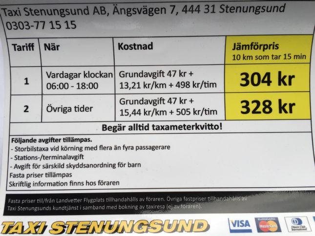 tåg stenungsund göteborg pris